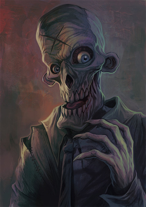 Ghoul zombie halloween artwork illustration