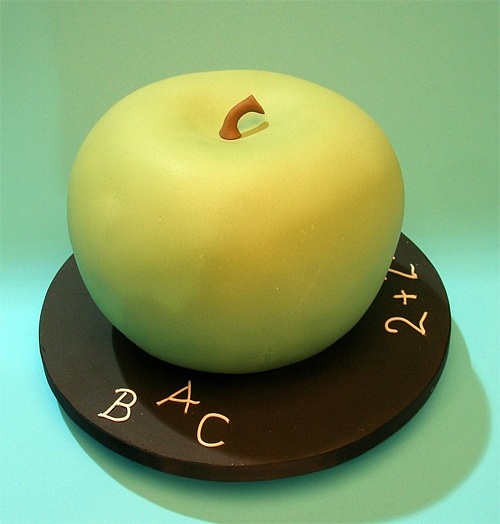 Green apple teacher unusual cake design cool