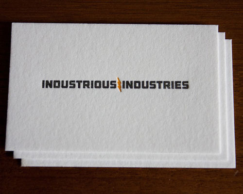 Business Card for: Industrious Industries