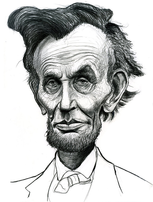Caricature abraham lincoln artwork illustration