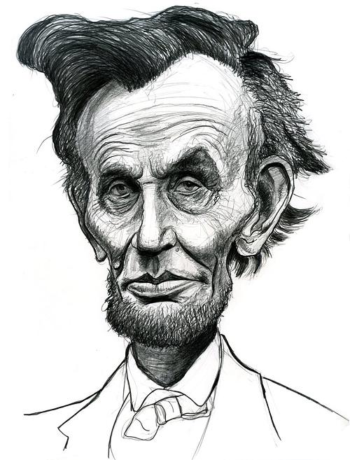 Caricature abraham lincoln artwork illustration