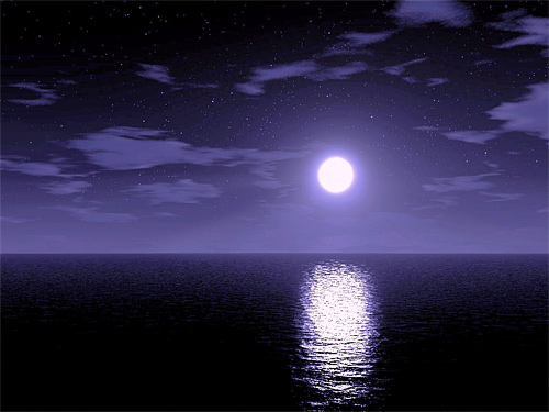 Light purple night cool moon wallpaper
