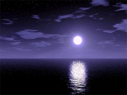 Light purple night cool moon wallpaper