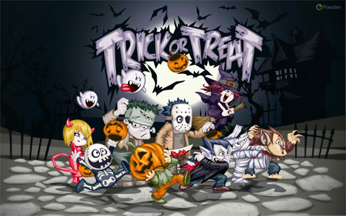 TRICKS OR TREATS wallpaper