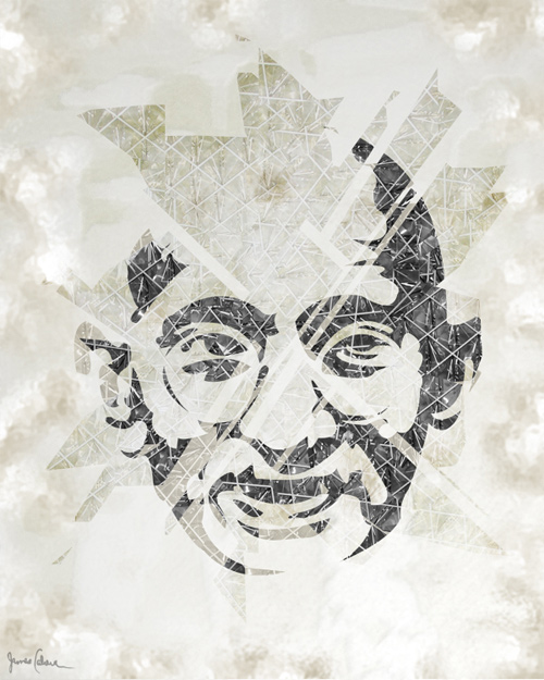 gandhi artwork picture illustration abstract design