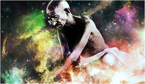 gandhi artwork picture illustration space