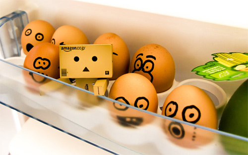 Egg fridge danbo photography cute