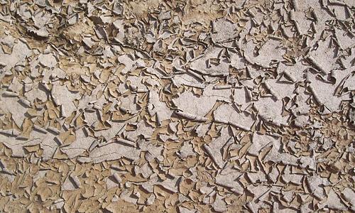 Dry peeling mud texture