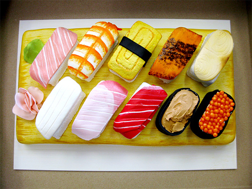 Sushi tasty unusual cake design cool