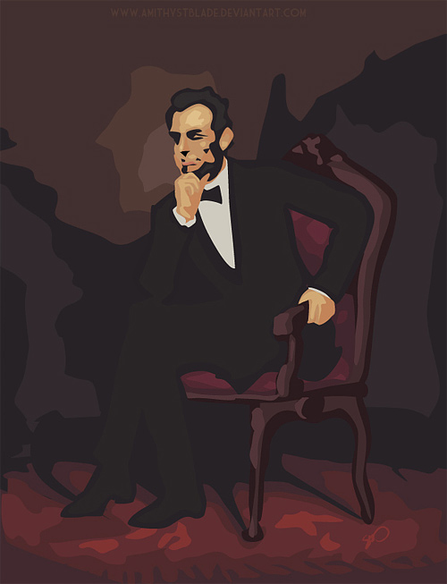 Vector art abraham lincoln artwork illustration