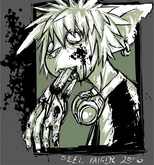 Cool zombie halloween artwork illustration