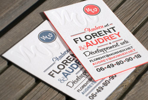 Nowhen Business Cards