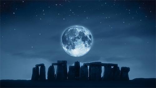 Full fascinating cool moon wallpaper