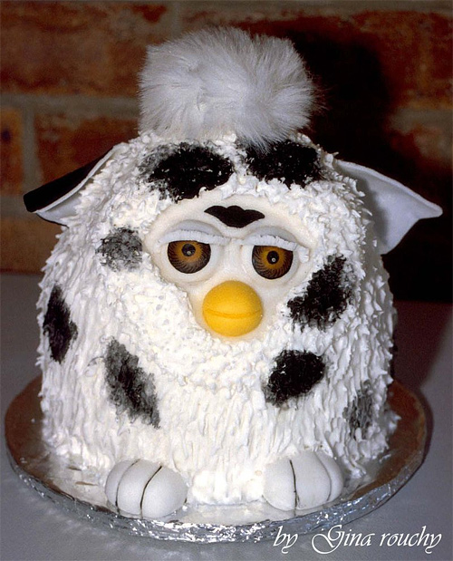 Furby cute unusual cake design cool