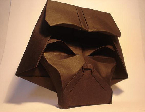 Starwars black dark vader origami artwork paper design