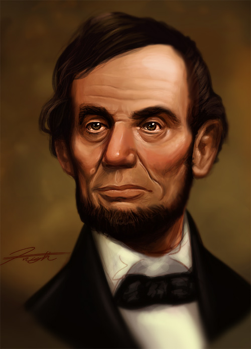 Speed painting abraham lincoln artwork illustration