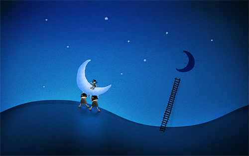 Cartoon stolen cool moon wallpaper funny