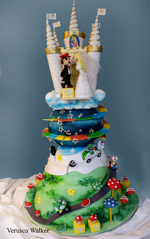 Super Mario wedding unusual cake design cool