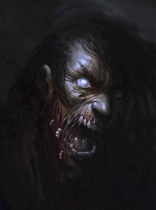 Thrash rocker zombie halloween artwork illustration