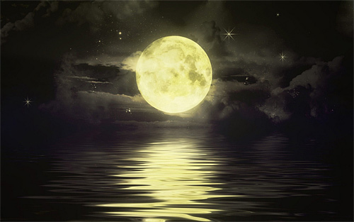 Yellow full beautiful cool moon wallpaper