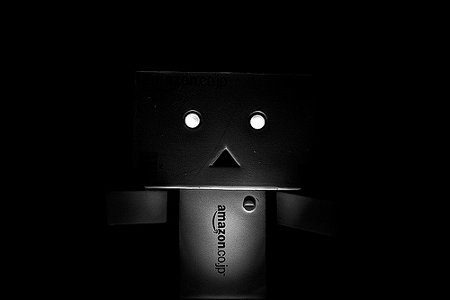 Black and white scary danbo photography cute
