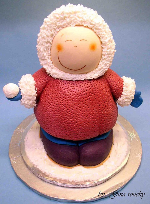 Eskimo Christmas unusual cake design cool