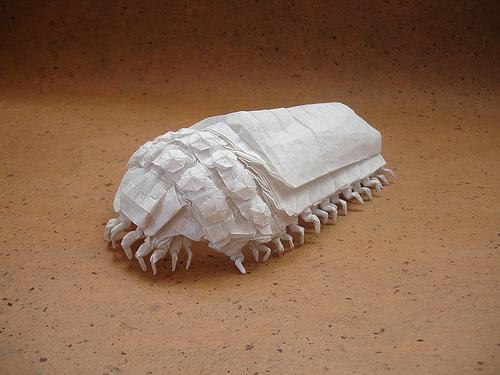 Ohmu insect lice origami artwork paper design
