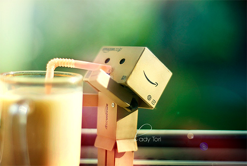 Straw drinking danbo photography cute