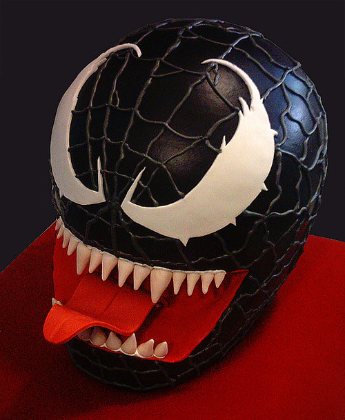 Venom spiderman unusual cake design cool