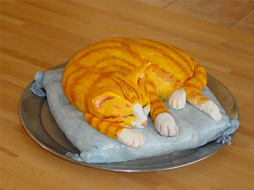 Cat orange unusual cake design cool