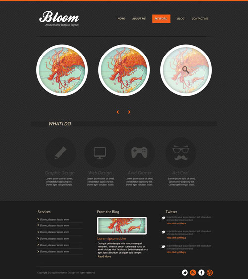 Design a Dark Textured Portfolio Template in Photoshop (Free PSD)
