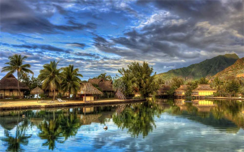 beautiful tropical island hdr