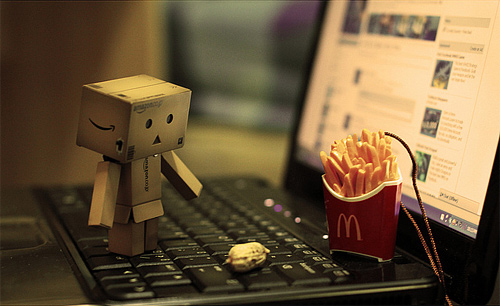 Confused fries danbo photography cute