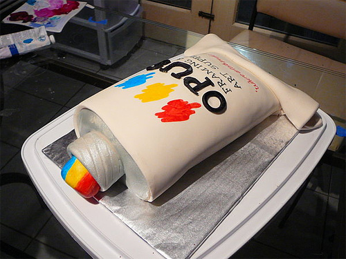 Paint tube unusual cake design cool
