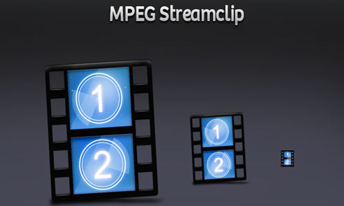 MPEG Streamclip icons