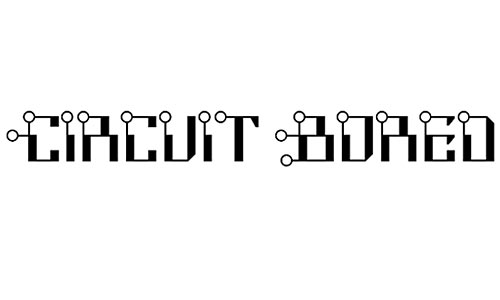 Circuit Bored NF font