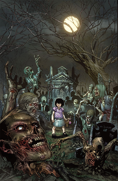Party child zombie halloween artwork illustration