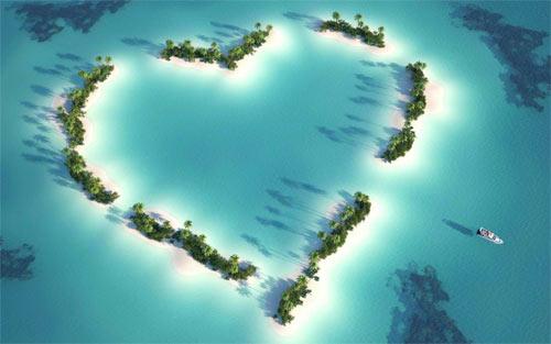 Island Heart wallpaper