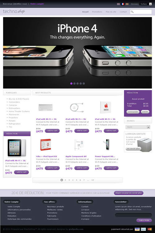 DESIGN A LAYOUT FOR A PHONE WEBSHOP