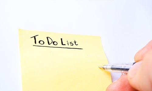 Schedule each step