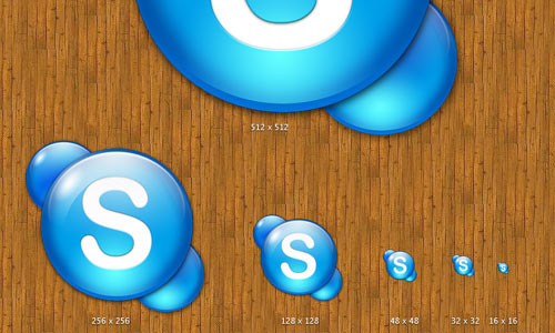 Skype 512x512 icons for mac
