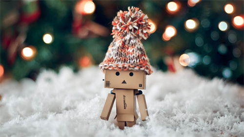 White Christmas snow danbo photography cute