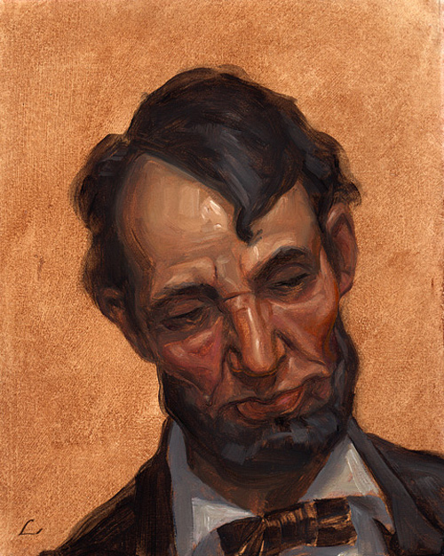 Painting beautiful abraham lincoln artwork illustration