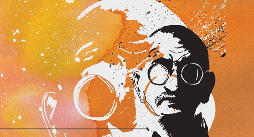 gandhi artwork picture illustration beautiful