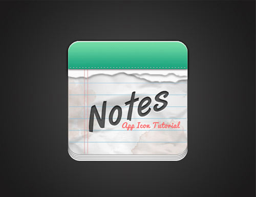 How To Create A Notes App Icon In Photoshop