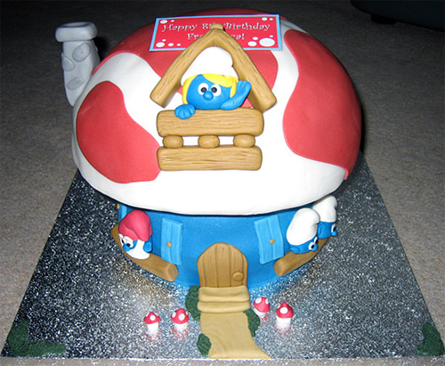 Smurf house unusual cake design cool
