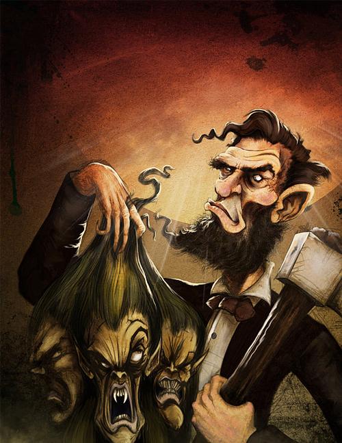 Vampire hunter abraham lincoln artwork illustration