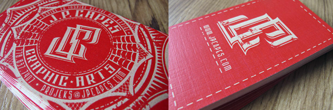 A New Showcase of Red Business Cards