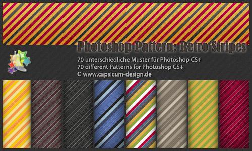 Colourful seamless stripe photoshop pattern set