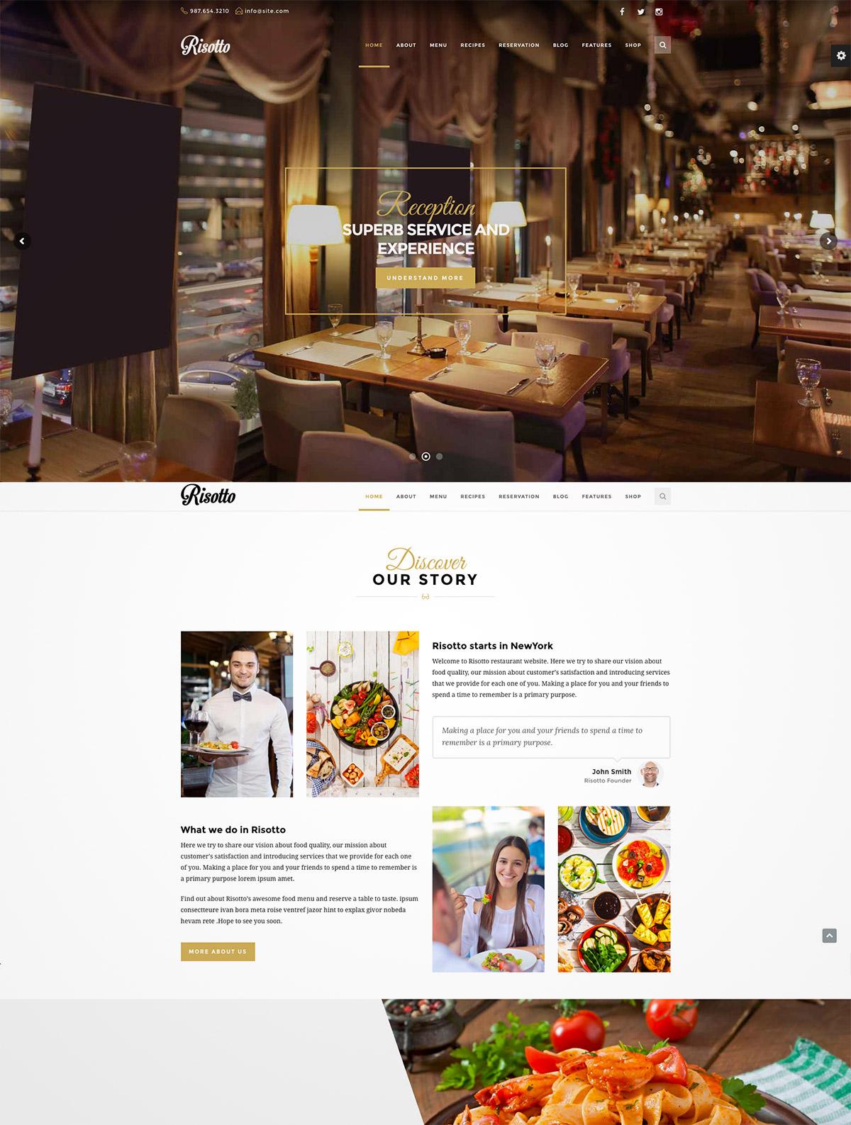 premium restaurant wordpress